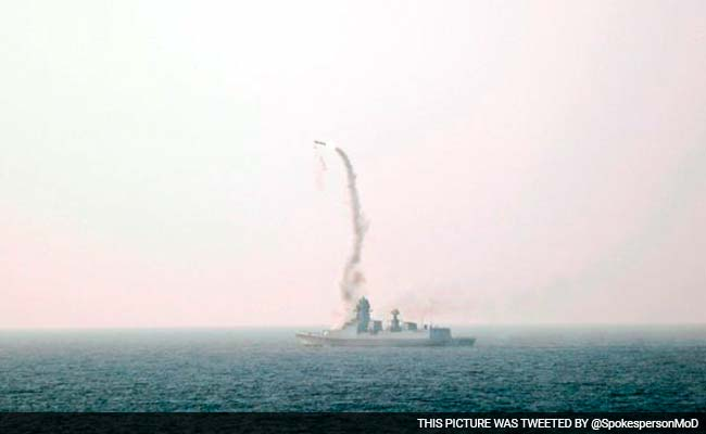 BrahMos Missile Test-Fired From New Naval Ship, Hits Target