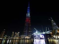World's Tallest Building Lit Up in French Tricolor