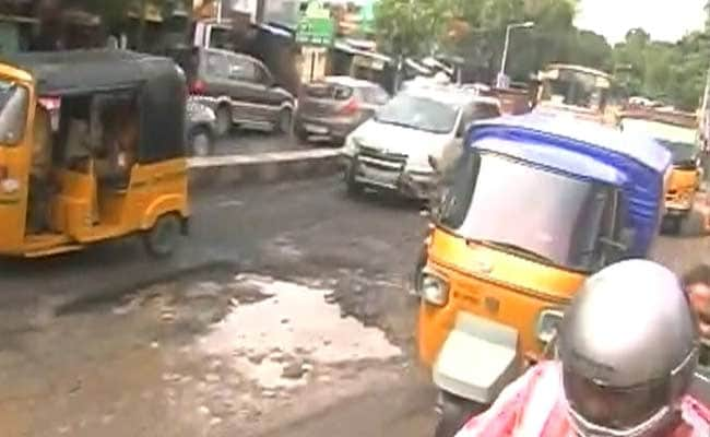 Chennai Roads Riddled With Potholes After 4 Days of Heavy Rain