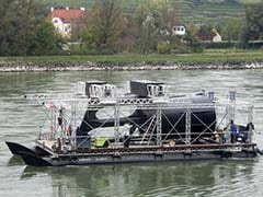 River Turbines Turn Austria's Danube From Blue to Green