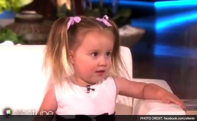 Adorable 3 year old girl stuns ellen degeneres with for Periodic table 6 year old