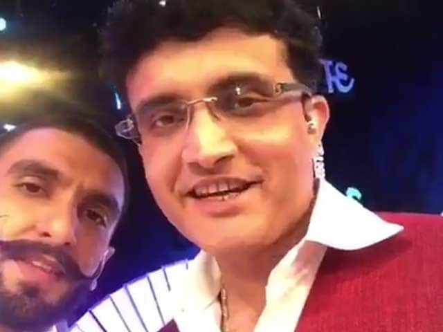 Sourav Ganguly Hits a Six For Ranveer Singh in Latest Bajirao Dubsmash