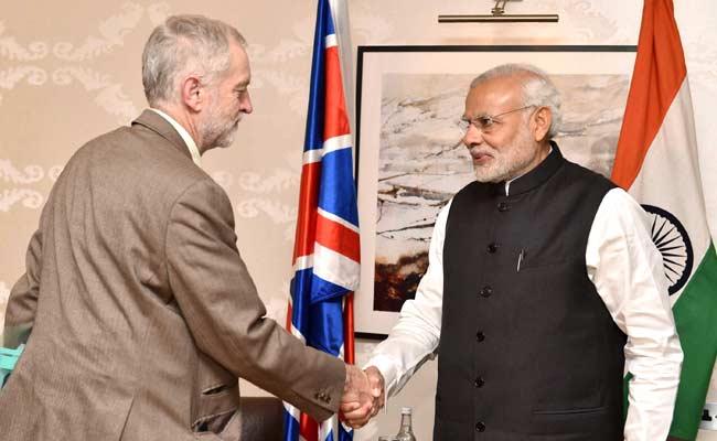 Labour Party Leader Jeremy Corbyn Meets Prime Minister Narendra Modi