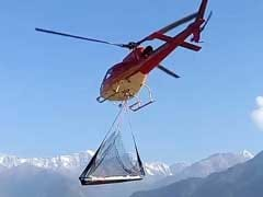 How Heavy Loads Are Being Airlifted For Kedar Valley's Reconstruction