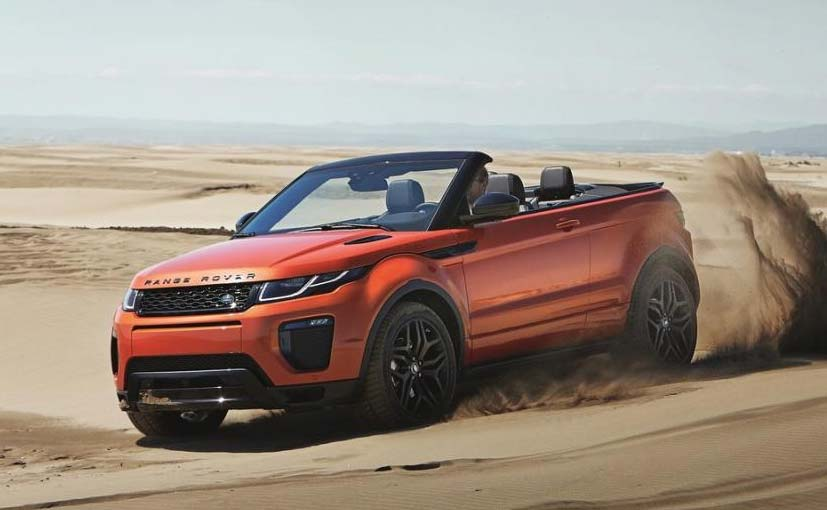 range rover evoque convertible to be showcased at 2016 auto expo