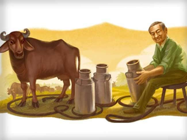 Google Doodle Honours Dr.Verghese Kurien on National Milk Day