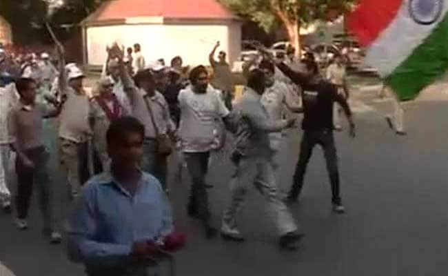 Ex-Servicemen Take Out March Against One Rank One Pension Notification