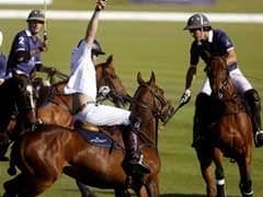 Prince Harry Falls From Polo Pony at Charity Match in South Africa