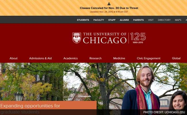 University of Chicago Cancels Today Classes After Threat