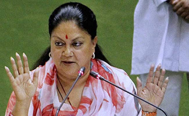 Cow Vigilantism, Hate Crimes Shows State In Bad Light: Vasundhara Raje