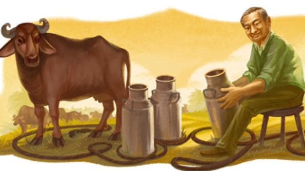 Verghese Kurien on Google Doodle for National Milk Day - NDTV Food
