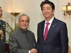 Japanese PM Shinzo Abe Meets President Pranab Mukherjee