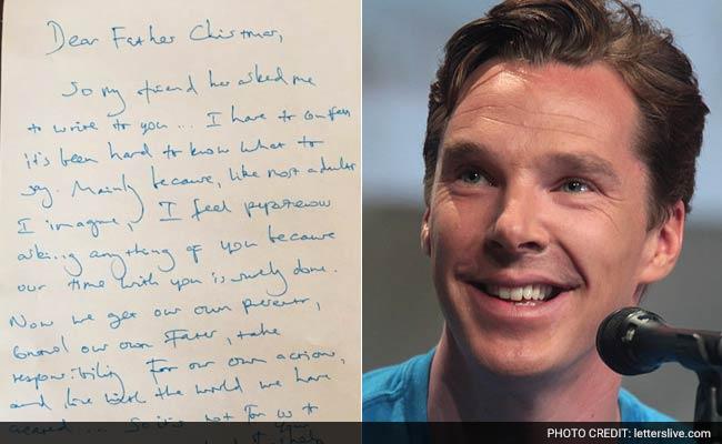 Benedict Cumberbatch's Wonderful Letter to Santa That Went Viral