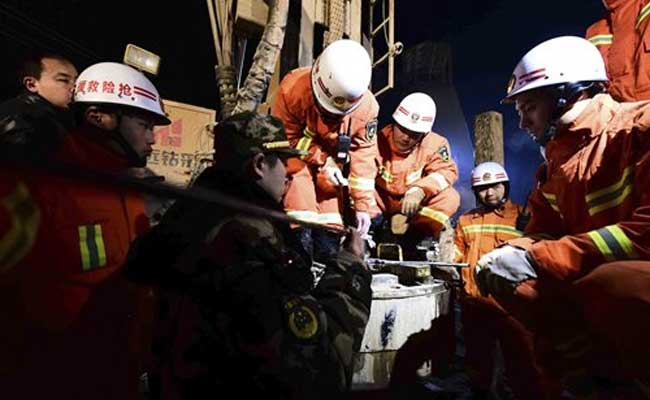 Chinese Rescuers Slowly Dig Down To Rescue 4 Trapped Miners