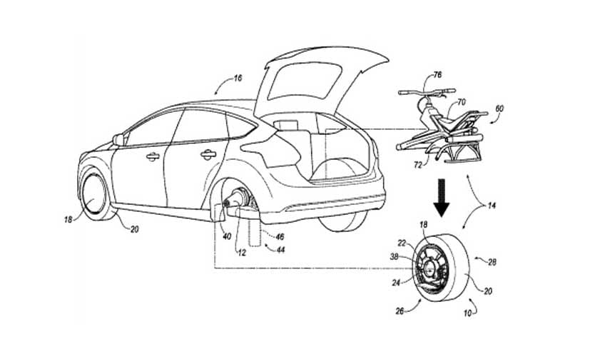 Ford Patents Technology to Convert a Car Tyre Into an Electric Unicycle