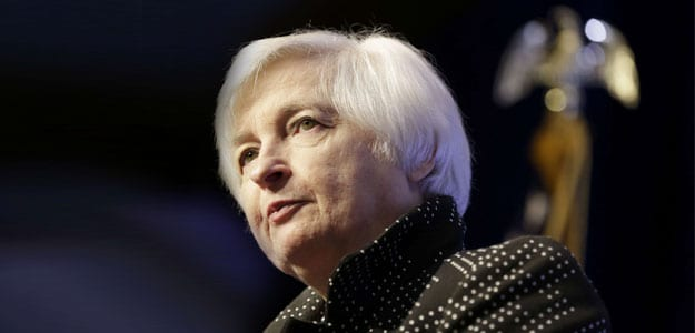 US Fed's Yellen Says 'Looking Forward' to Day of First Rate Rise in Decade
