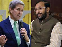 John Kerry, Prakash Javadekar Hold 'Positive and Constructive' Climate Talks