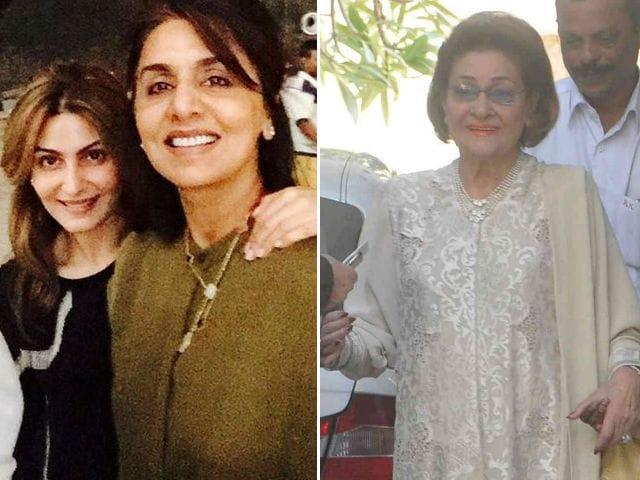Neetu Singh, Riddhima Celebrate Krishna Raj Kapoor's Birthday