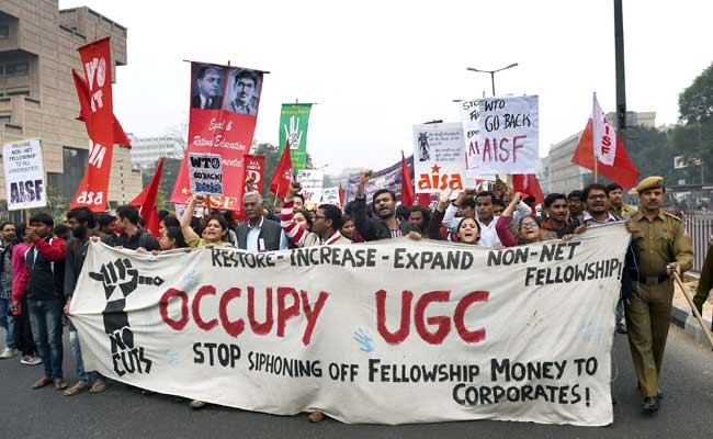 'Occupy UGC' Protesters March To Parliament, 150 Detained