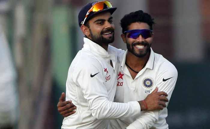Kolkata Test : जश्न मनाने लगे रवींद्र जडेजा, चल दिए जीतन पटेल, थोड़ी देर में खुशी हुई गायब!