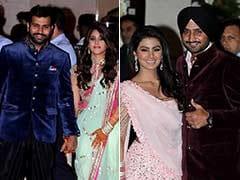 PHOTOS : क्रिकेटर रोहित-रितिका और भज्जी-गीता की शादी के लिए अंबानी ने दी भव्य पार्टी