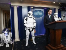<i>The Force Awakens</i> at The White House. Stormtroopers, R2D2 Invited