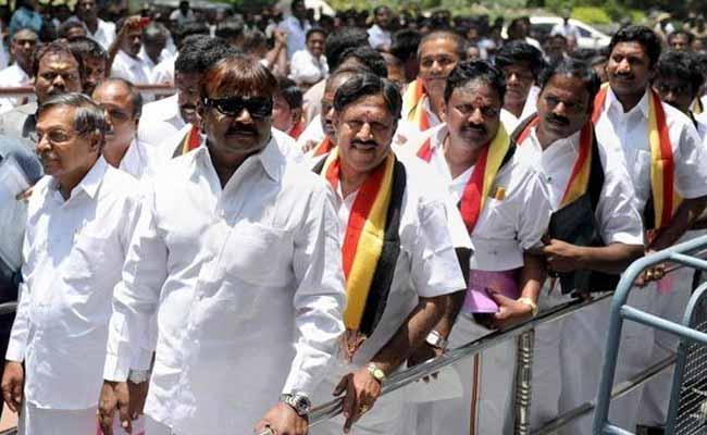 Image result for vijayakanth opposition leader