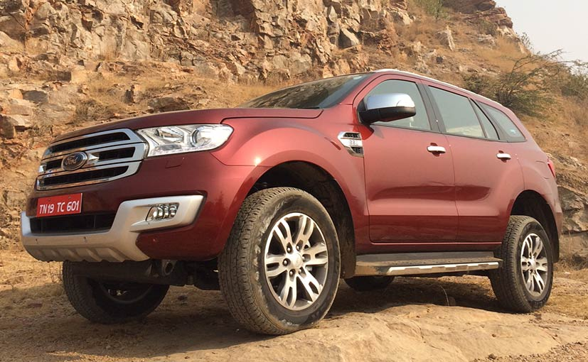 2016 Ford Endeavour Launched In India Prices Start At Rs 24 75