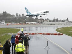 Boeing's 737 MAX Aircraft Takes Off On First Flight