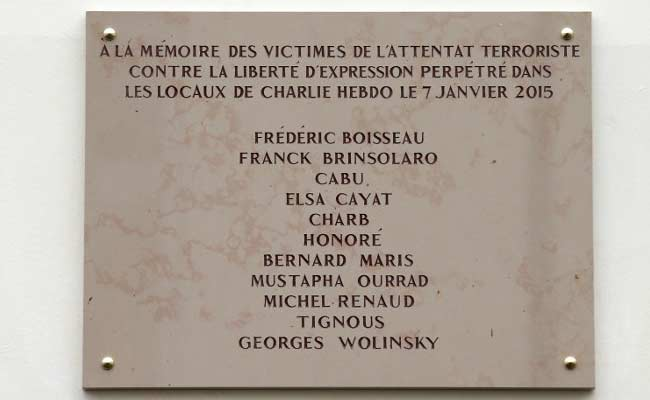 Charlie Hebdo Widow 'Furious' Over Typo On Commemorative Plaque