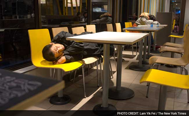 China's Homeless Find Shelter Under McDonald's Golden Arches