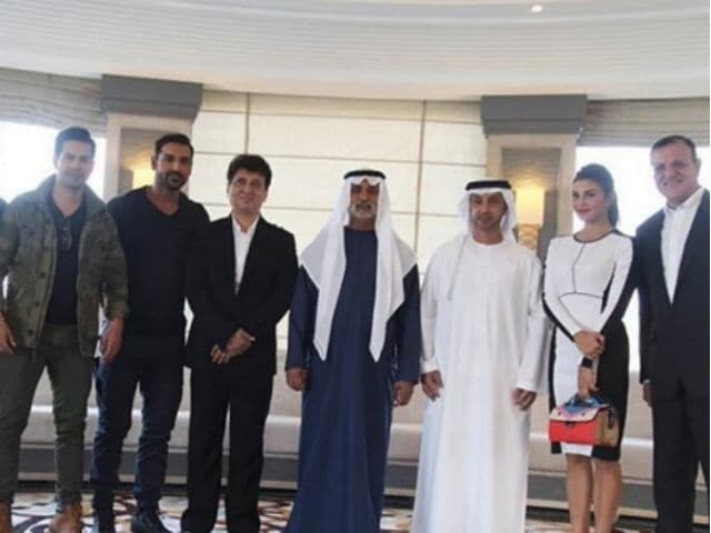 Jacqueline, John and Varun Shoot For Dishoom in Abu Dhabi