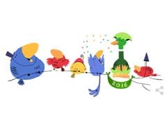 Happy New Year : Google Welcomes 2016 With A Doodle