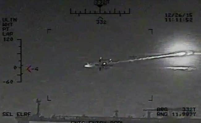 US Releases Video Showing Iranian Rockets Near Its Warships