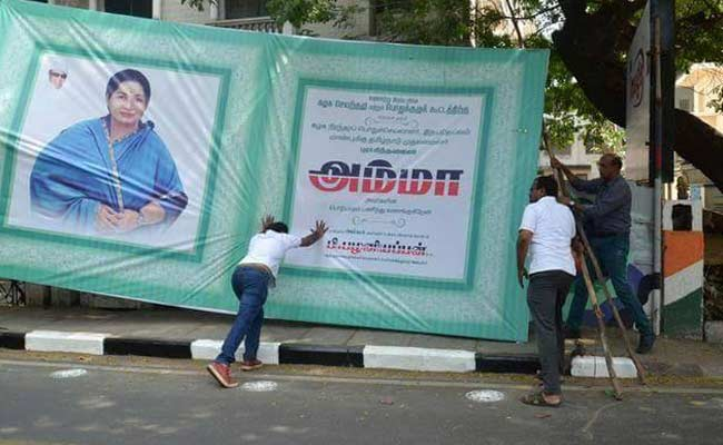 Activists Who Pulled Down Jayalalithaa Hoardings In Chennai Still In Jail