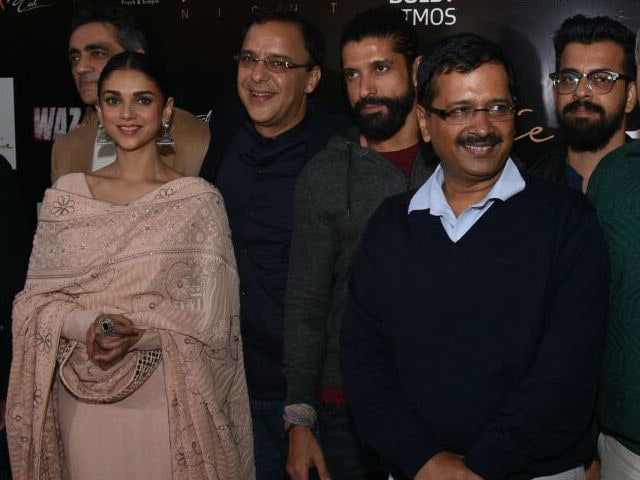 Arvind Kejriwal Watches Wazir With Farhan, Aditi