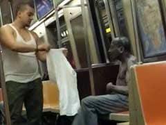 Viral: Kind Man Literally Gives Shivering Stranger Shirt Off His Back