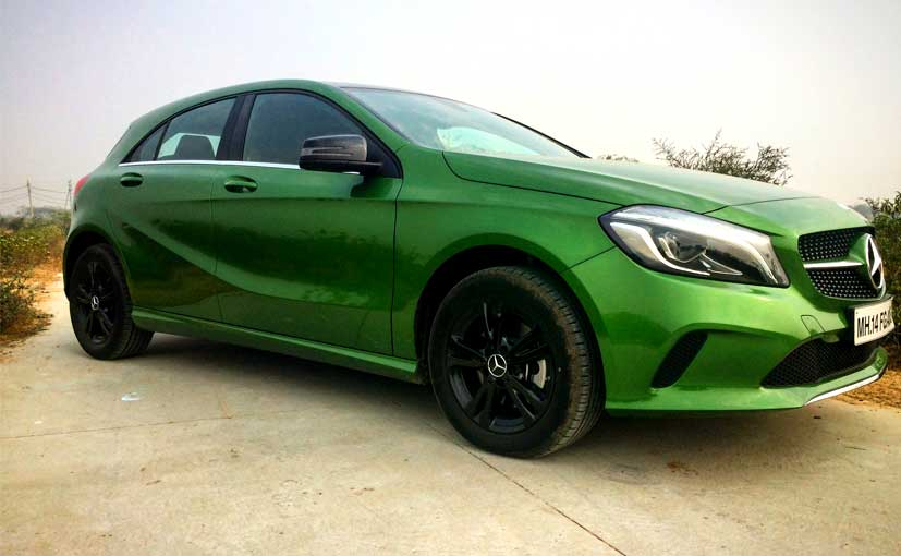 review mercedes benz a class facelift ndtv carandbike. Black Bedroom Furniture Sets. Home Design Ideas