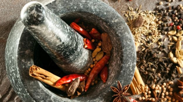 The Top Indian Kitchen Hack: Grinding Spices Using Mortar-Pestle