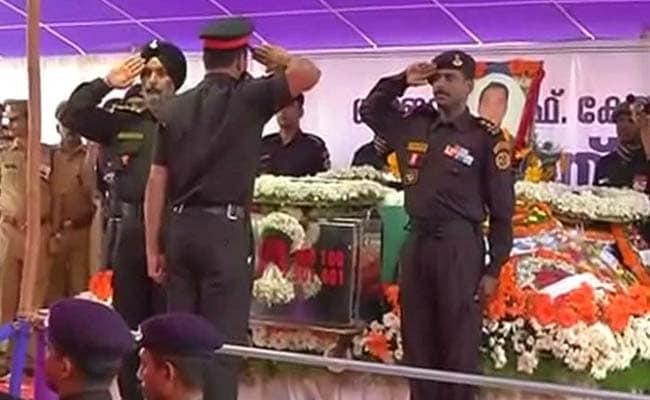 Final Farewell To Pathankot Martyr Lieutenant Colonel Niranjan Kumar