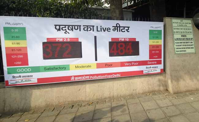 Pollution Live Meters Installed At 6 Places In Delhi