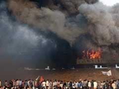 Violent Quota Protests In Andhra Pradesh, Train Coaches Set On Fire