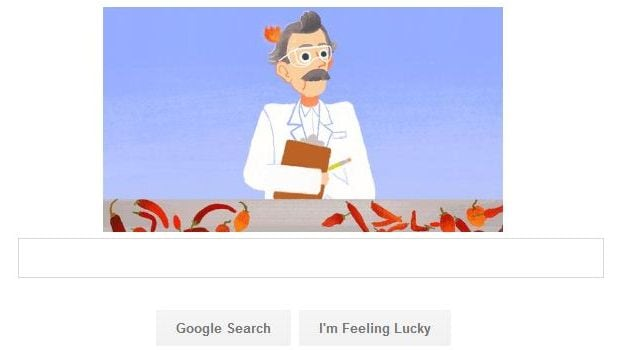 Google Doodle Celebrates Wilbur Scoville's 151th Birthday
