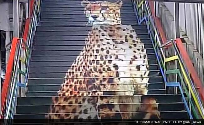 A Cheetah on the Stairs: Mumbai Stations Get Colourful Makeovers