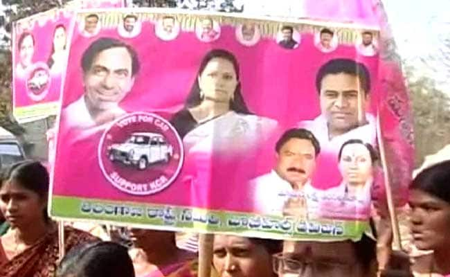 Chief Minister KCR And The Colour Pink Are Everywhere In Hyderabad