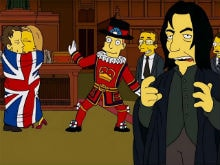 <I>The Simpsons</i>' Tribute to Alan Rickman, David Bowie is Pure <I>Love, Actually</i>