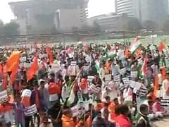 Day After Students' March, ABVP's Counter-Protest