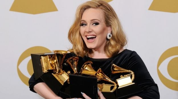 Adele Takes Comfort in Fast Food After Grammys Snafu