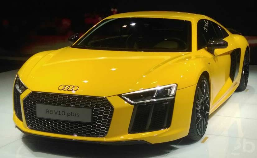 Auto Expo Audi R V Plus Launched In India NDTV CarAndBike - Audi car r8 price in india