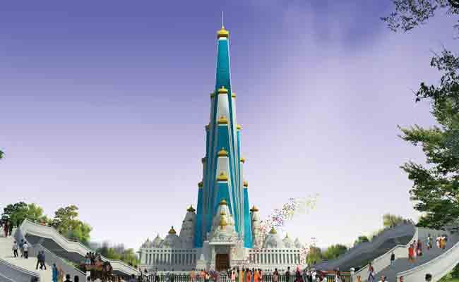 वृंदावन में 2020 तक कृष्ण थीम पर बनेगा 'चंद्रोदय मंदिर', दुनिया में होगा सबसे ऊंचा